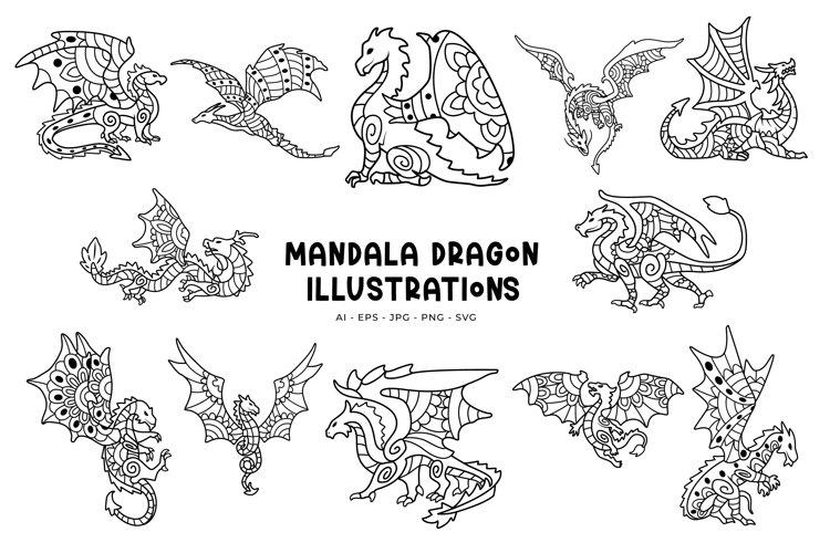 Mandala Dragon Illustrations