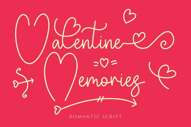 Valentine Memories Romantic Font example image 1