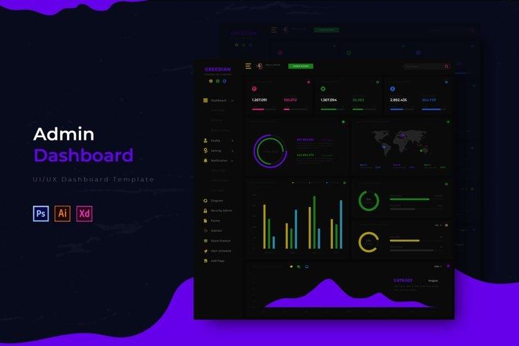 Greedian Dashboard | Admin Template example image 1