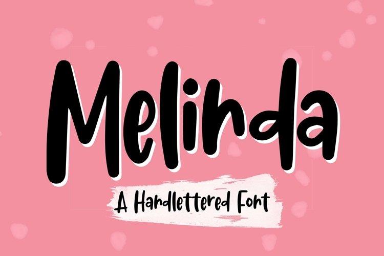 Web Font Melinda - Handlettered Font example image 1