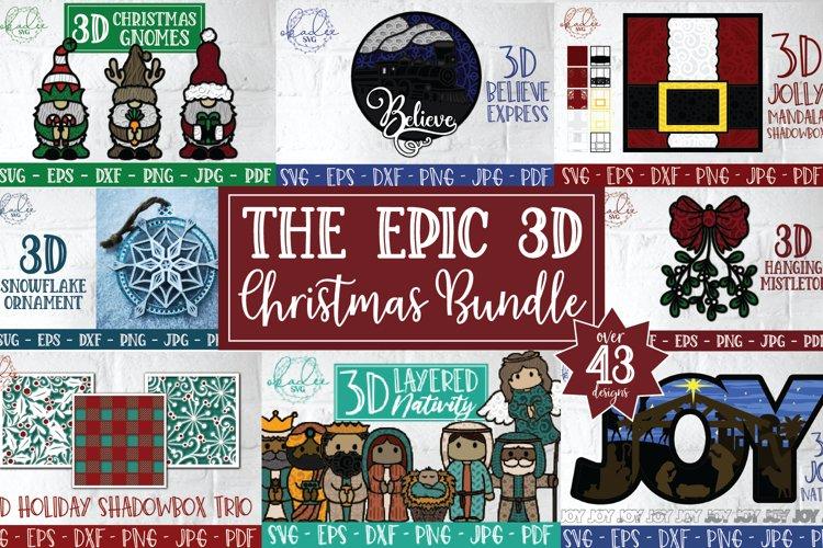 Epic 3D Christmas Bundle, Holiday Papercut Bundle, SVG, DXF
