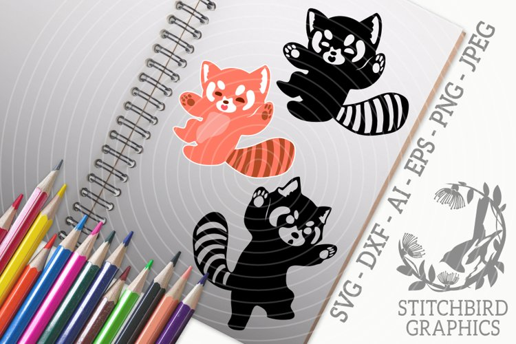 Red Panda 1 Bundle SVG, Silhouette Studio, Cricut, Eps, JPEG example image 1