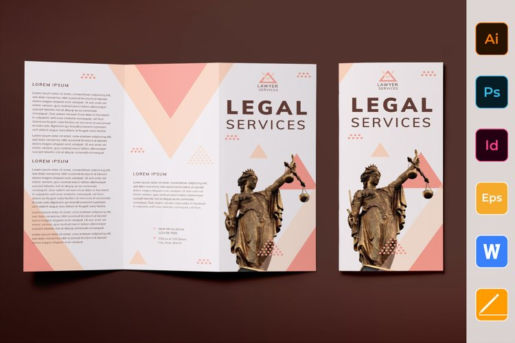 Legal Services Brochure Trifold