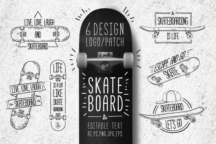 Set of Skateboarding line logo