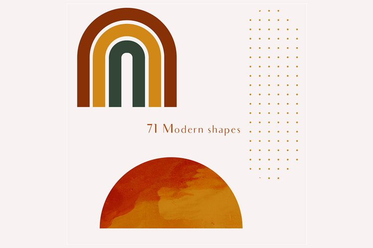 71 Modern shapes clipart illustrations example 8