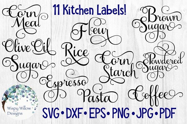 Kitchen Labels Bundle, Pantry, Cut File
