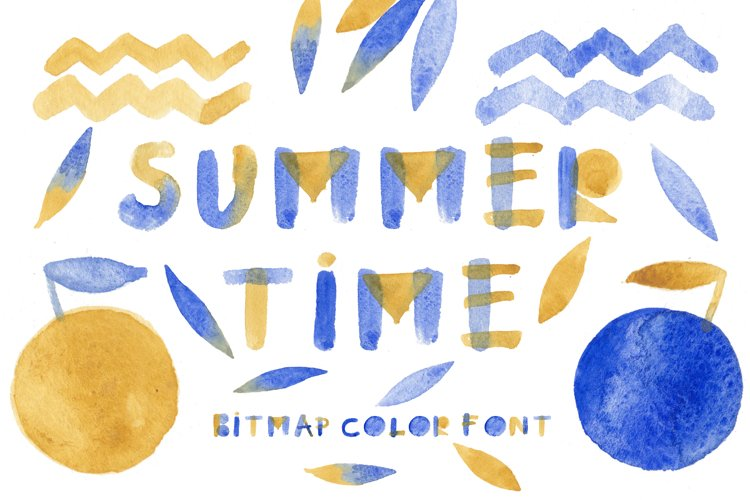 Summertime bitmap color font example image 1