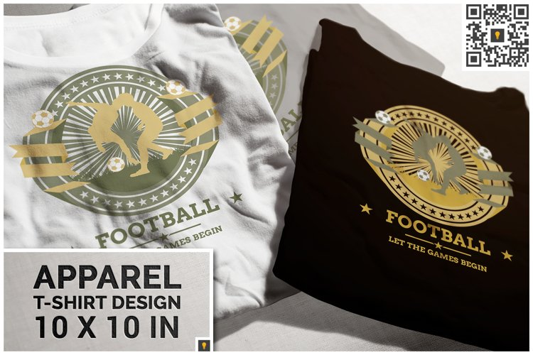 Football Competition Theme T-shirt Design example image 1