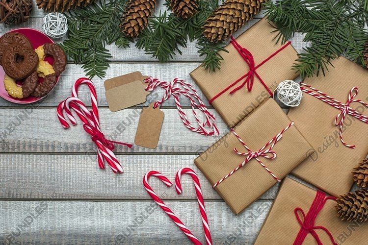 Christmas Gifts Styled Stock Photography example image 1