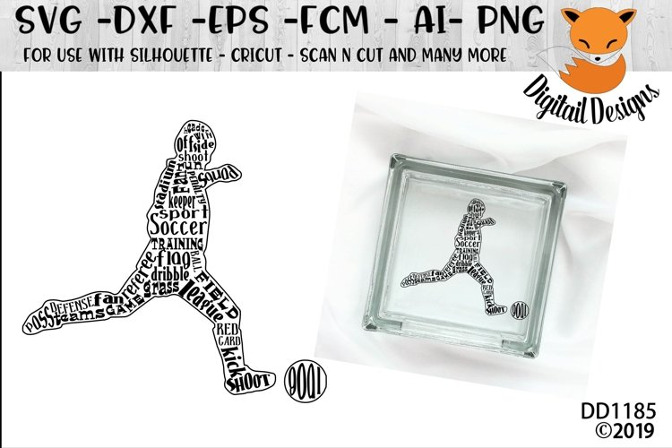 Soccer Word Art SVG - Silhouette - Cricut - Scan n Cut