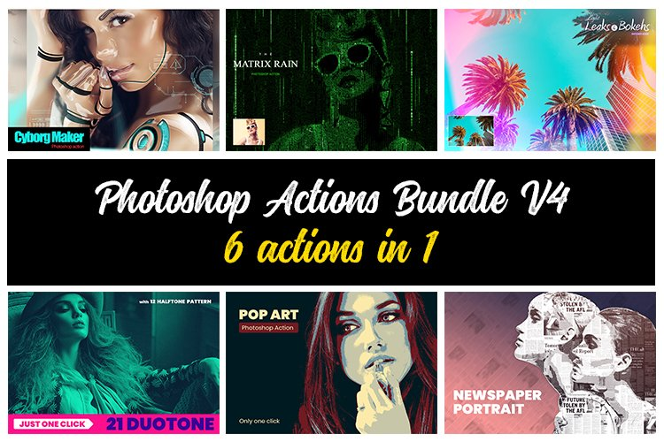Photoshop Actions Bundle V4 example image 1