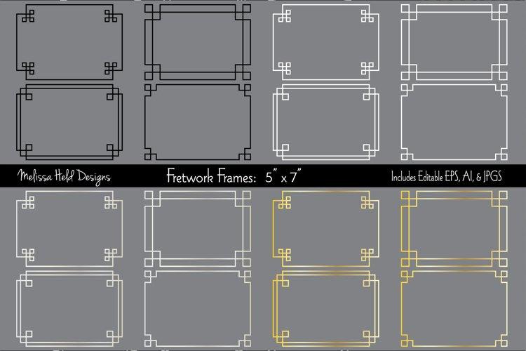 """Silver   Gold 5"""" x 7"""" Fretwork Frames"""