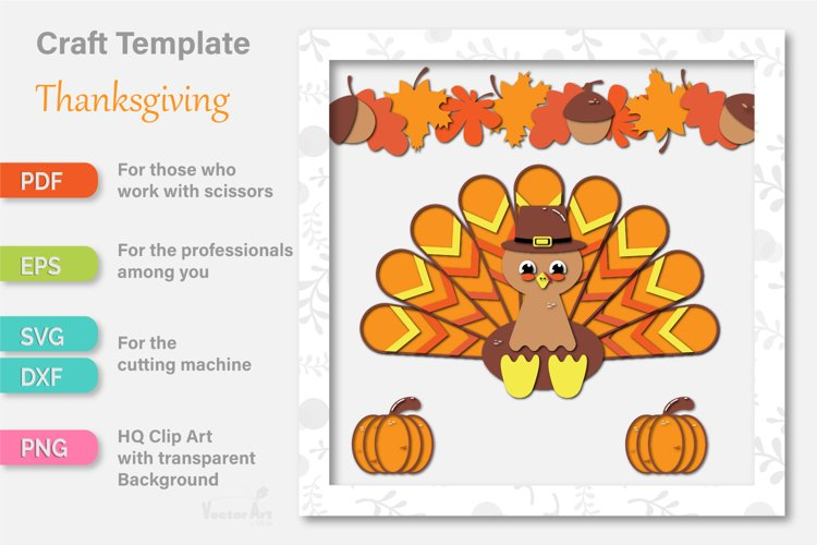 Thanksgiving Turkey - Paper Cut for Crafter example