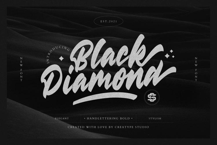 Black Diamond Handlettering Bold example image 1