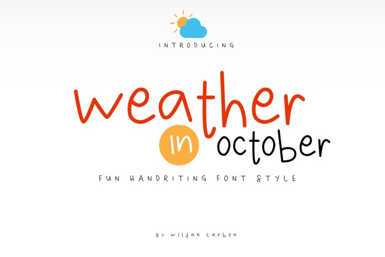 Weather in October example image 1