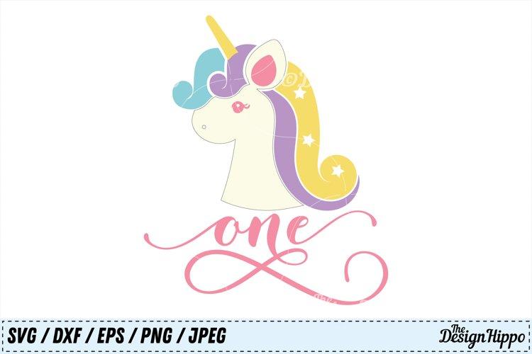One Unicorn SVG, Unicorn PNG, Birthday SVG, Unicorn Birthday