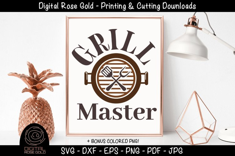 Grill Master - Funny Grilling BBQ SVG, Barbecue Printable example image 1