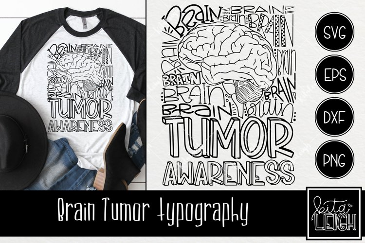 Brain Tumor Awareness Typography