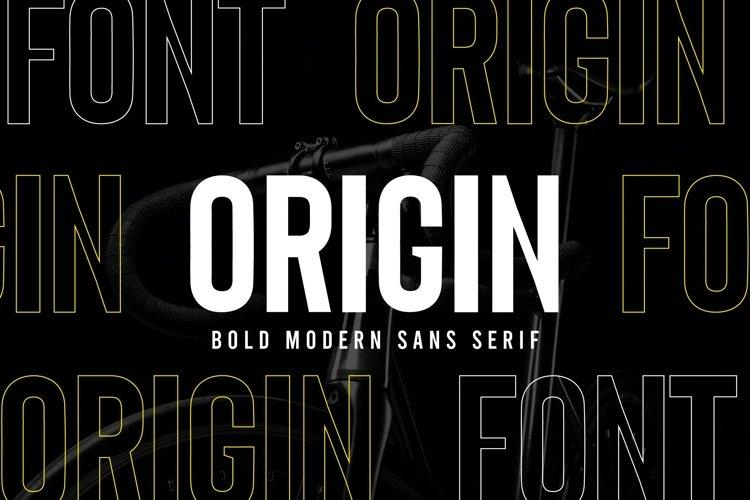 Origin - Bold Retro Sans Serif example image 1
