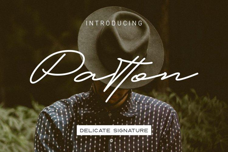 Patton Delicate Signature Typeface example image 1