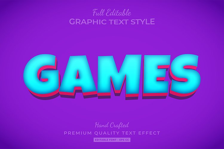 Cartoon Game Text Style Effect example image 1