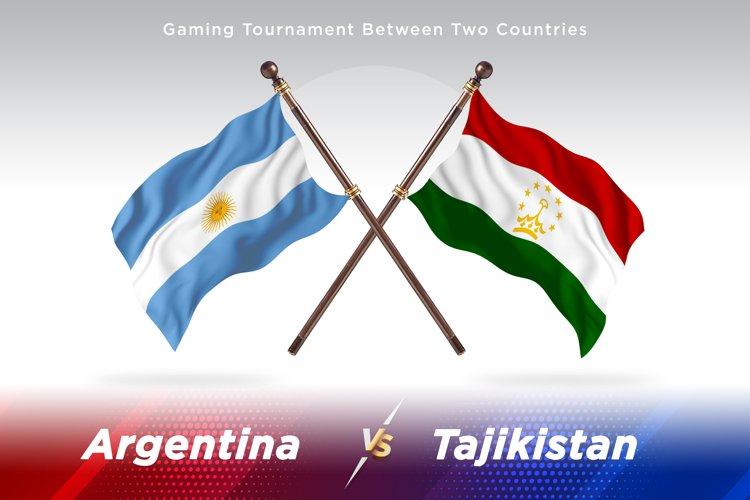 Argentina vs Tajikistan Two Flags example image 1