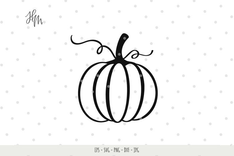 Pumpkin cut file SVG DXF EPS PNG JPG example image 1