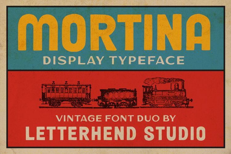 Mortina Font Duo - Display Typeface example image 1