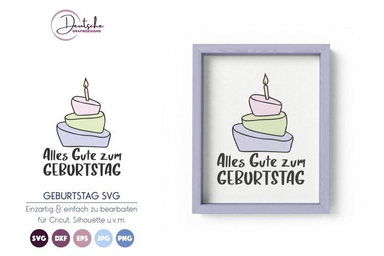 Alles Gute zum Geburtstag SVG example image 1
