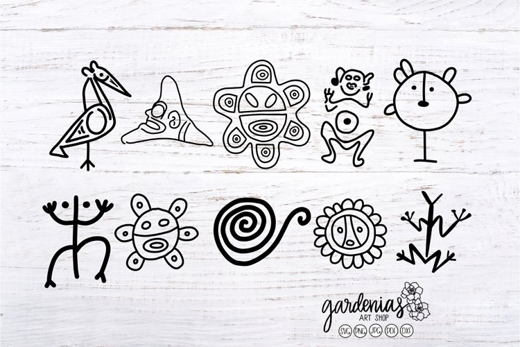 Taino Petroglyph SVG Bundle | Puerto Rico Cut Files | Clip A