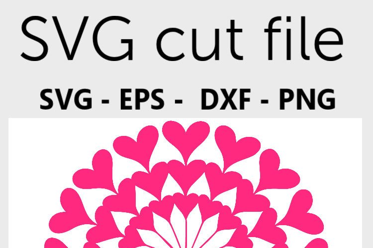 Mandala SVG - Heart mandala svg example 1