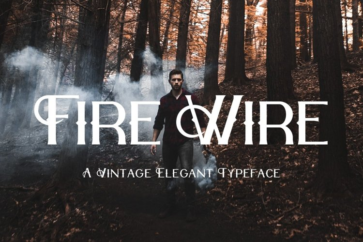 Web Font Fire Wire example image 1