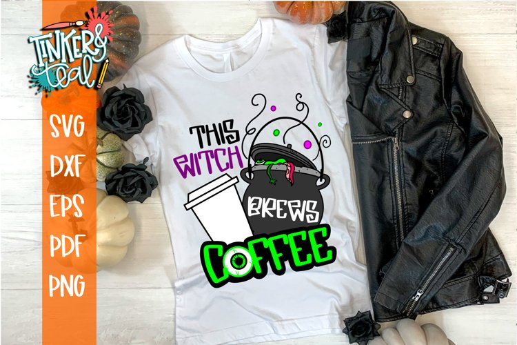 This Witch Brews Coffee Halloween SVG Cut File example image 1