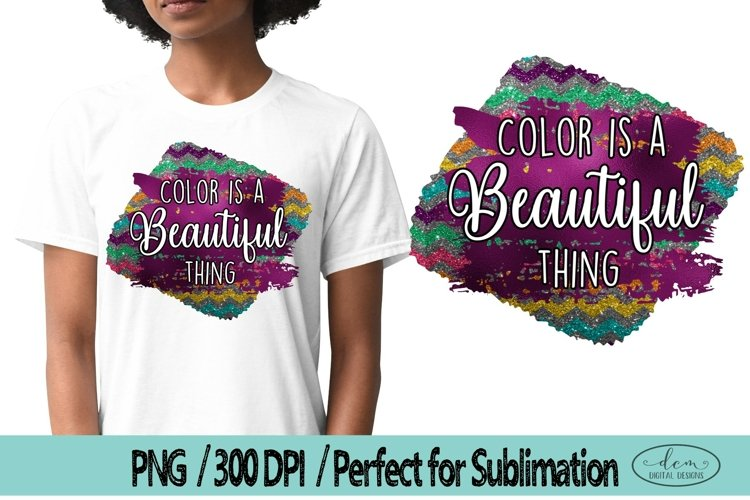 Color is a beautiful thing Colorful PNG Black Lives Matter example image 1