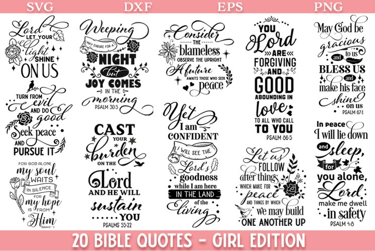 Bible Quotes Bundle Girl Edition - Limited PROMO!