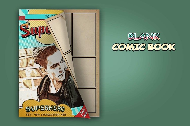 Blank Comic Book Interior Pages & Covers JPG-PDF-PSD-PNG example 1