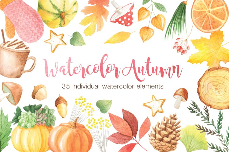 The Watercolor Autumn Collection  - Free Design of The Week Font