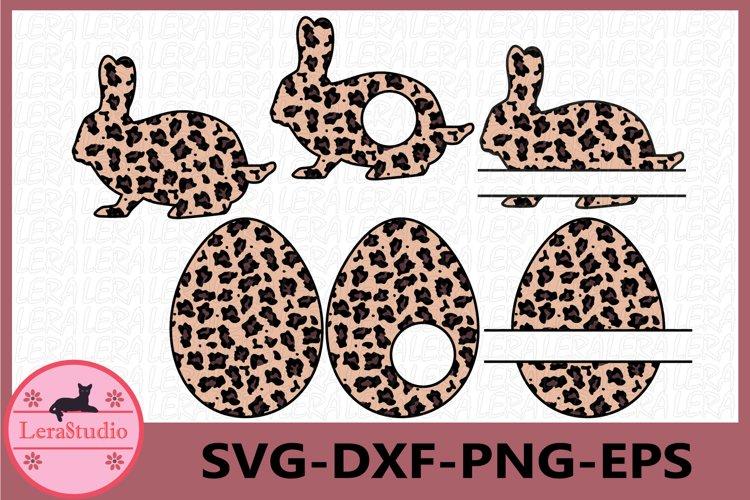 Easter Bunny SVG File, Bunny Leopard Svg, Easter Egg Svg