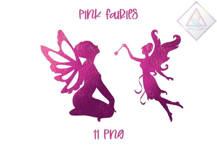 Pink Fairies Clipart