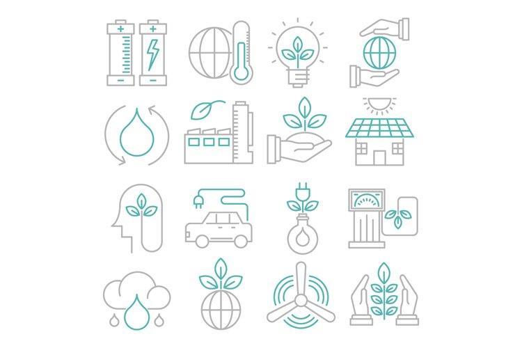 Ecology icons set example image 1