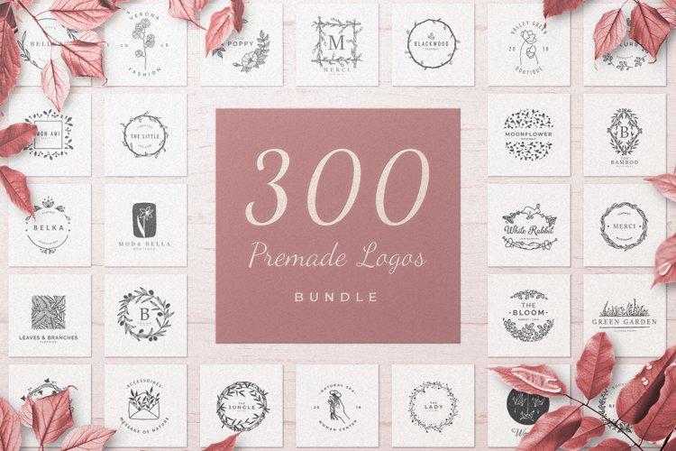 300 Premade Logos Bundle Collection