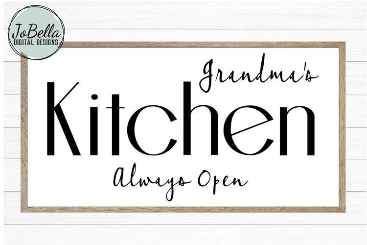 Grandmas Kitchen SVG and Printable Farmhouse Design