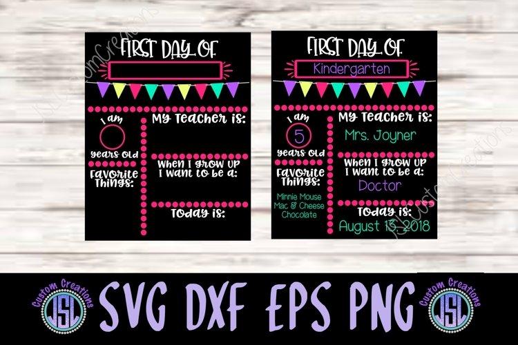 Download 1st Day Of School Sign Template Svg Dxf Eps Png Digital File 113944 Svgs Design Bundles