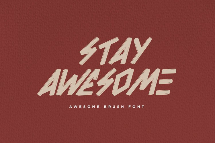 Awesome Brush Font example image 1