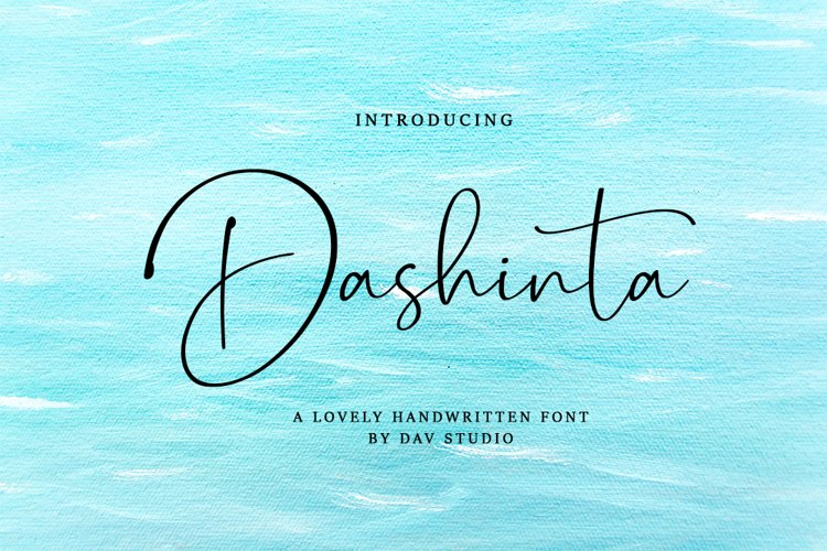 Dashinta - Lovely Handwritten Font example image 1
