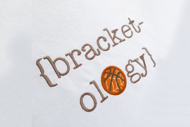 Bracketology March Madness Basketball Applique Embroidery example image 1