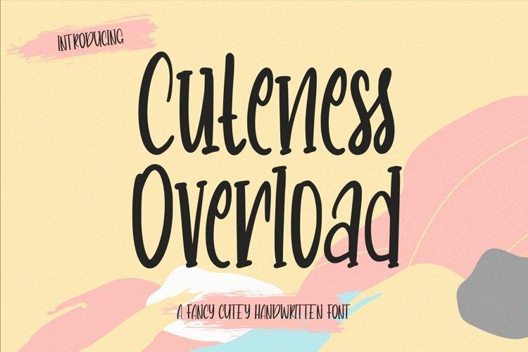Web Font CutenessOverload - Cutey Handwritten Font example image 1