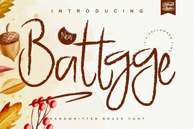 Battgge - Handwritten Minimalist Brush Font example image 1