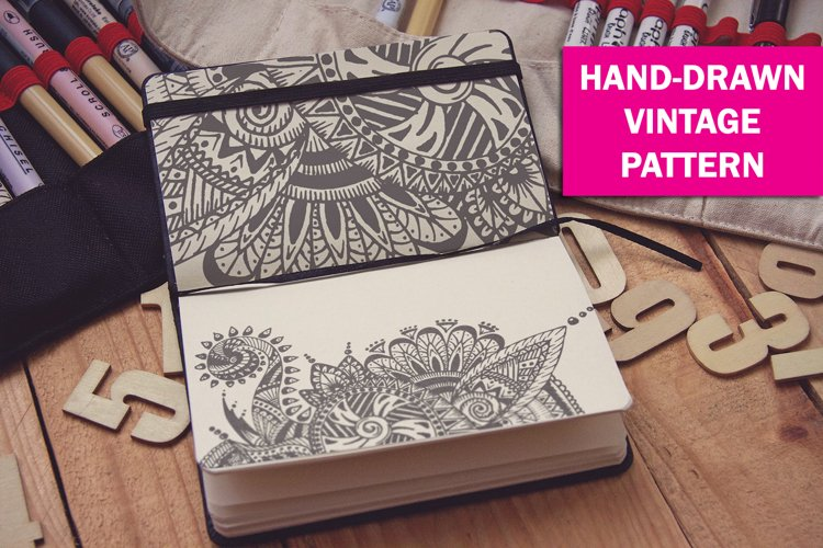 hand-drawn vintage pattern