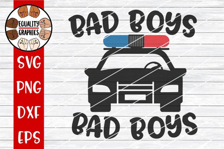 Bad Boys Police Car SVG | DXF | PNG